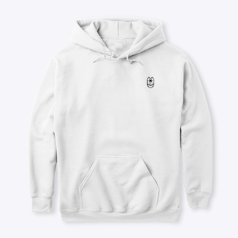 Hot Palms Design Hoodie White T-Shirt Front