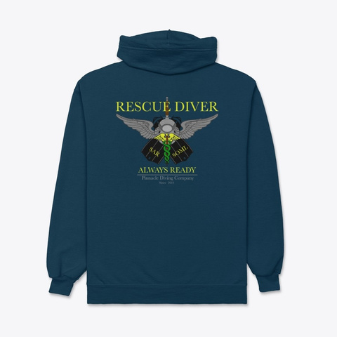 Pdc Rescue Hoodie 1 Navy T-Shirt Back
