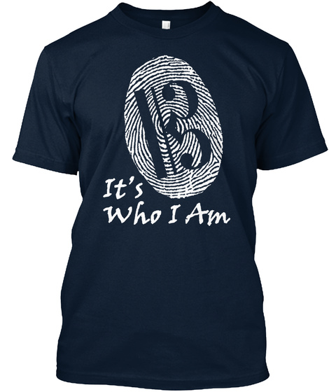 It's Who I Am New Navy T-Shirt Front