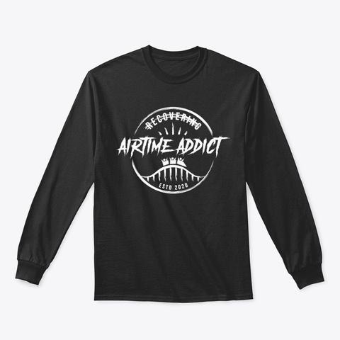 Airtime Addict (Long Sleeve Plain Logo) Black T-Shirt Front