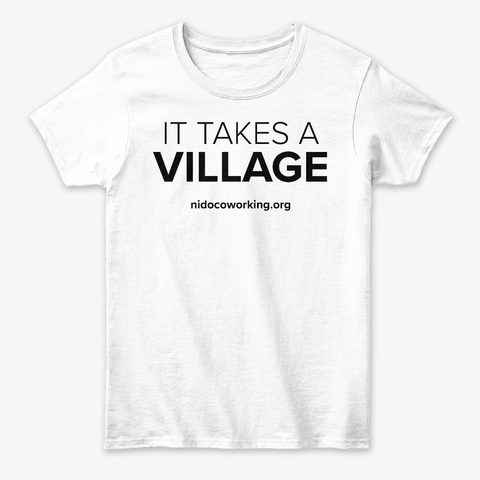 It Takes A Village Swag White Women's T-Shirt Front