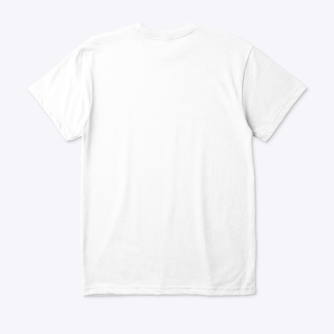 Flower Of Life Conscious White T White T-Shirt Back