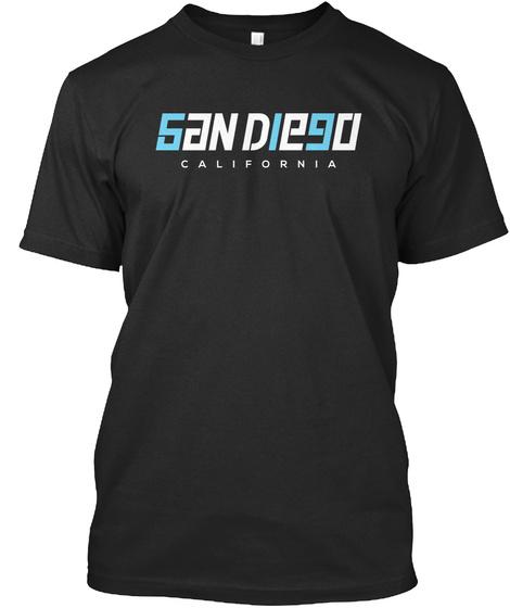 San Die90 Californoa Black T-Shirt Front