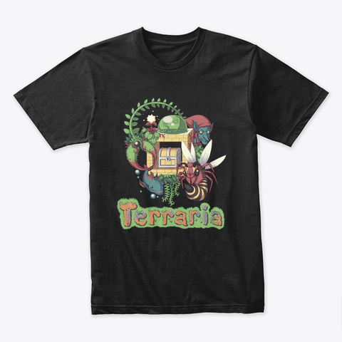 Jungle Style – Terraria Merchandise Black T-Shirt Front