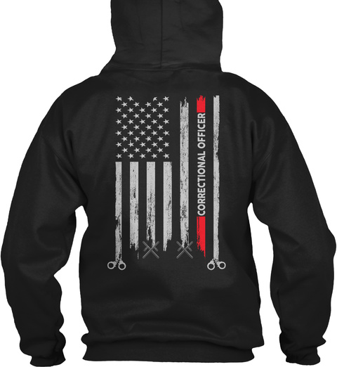 Proud Correctional Officer Hoodie Black T-Shirt Back