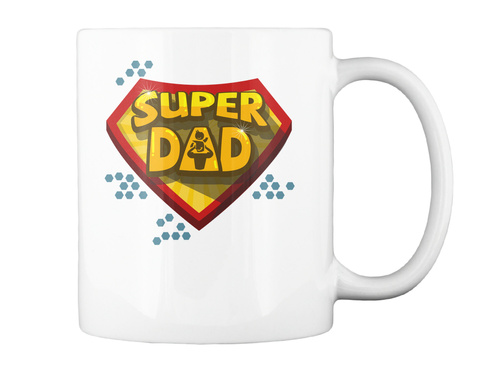 Mugs For Super Dad White Mug Back