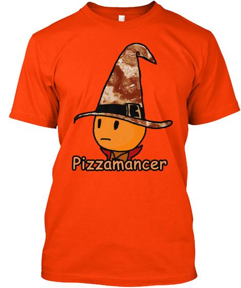 Pizzamancer Orange T-Shirt Front