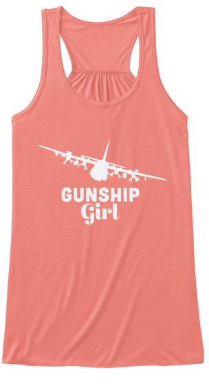 Gunship Girl Coral T-Shirt Front