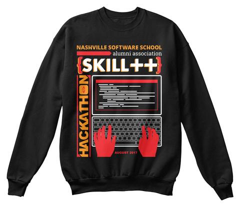 Nss Alumni Hackathon Hoodless Sweatshirt Black Sweatshirt Front