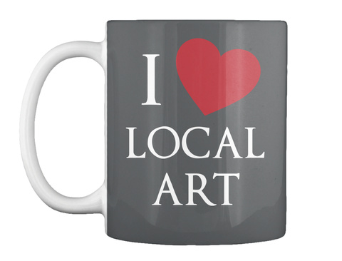I Local Art Dk Grey Caneca Front
