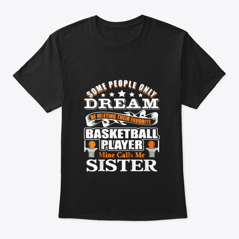 Basketball T Shirt Proud Basketball Black T-Shirt Front