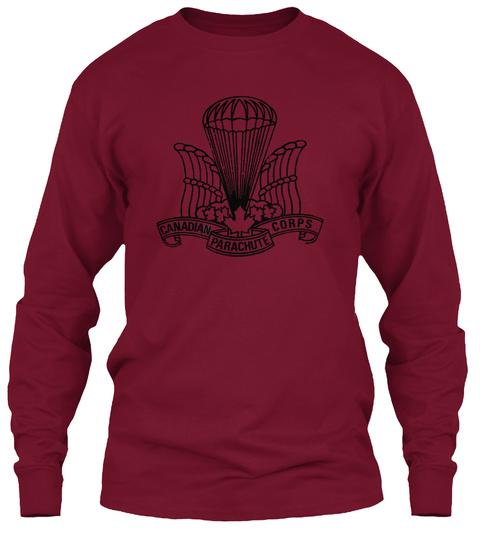 Canadian Parachute Corps Cardinal Red T-Shirt Front