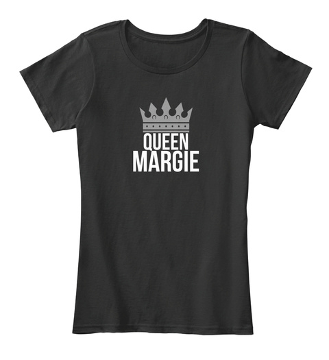 Queen Margie Black T-Shirt Front