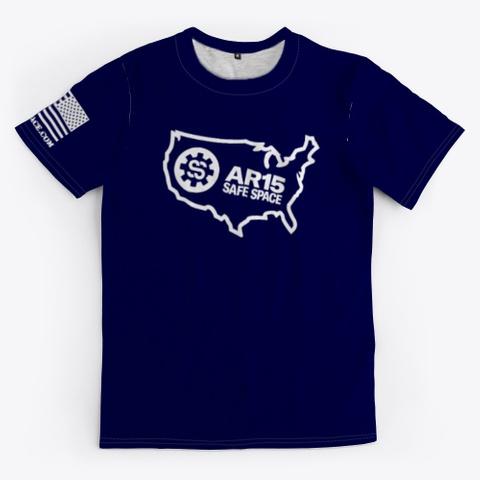 Ar15 Safe Space Usa Logo Dark Navy T-Shirt Front