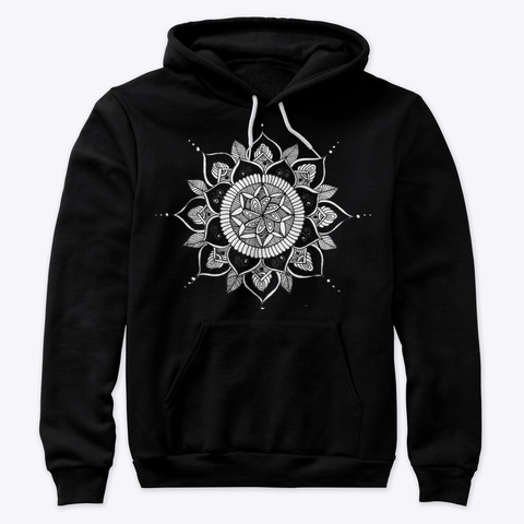 Lucky Mandalas Apparel 2 Black T-Shirt Front