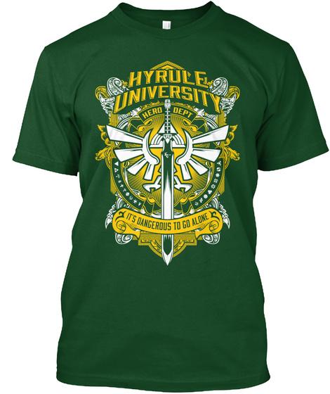 Hyrule University Hero Dept Its Dangerous To Go Alone  T-Shirt Front