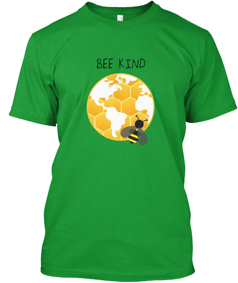 Be Kind Kelly Green T-Shirt Front