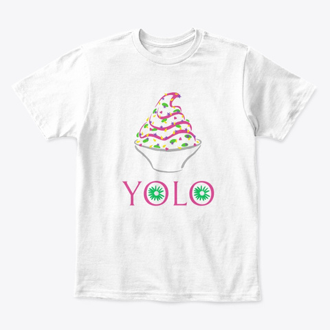 Yolo Kids' Tee (White) White T-Shirt Front