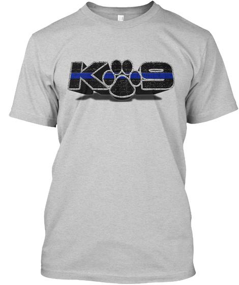 K9 Light Steel T-Shirt Front
