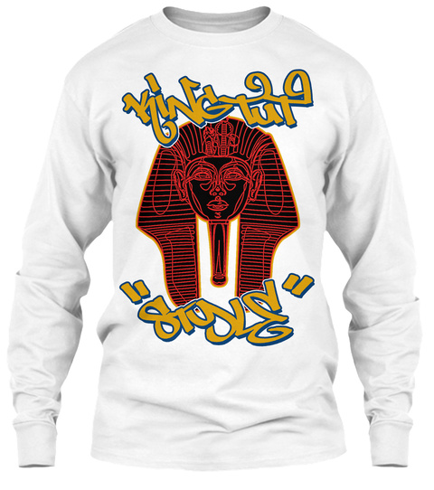Mr Wiggles King Tut Style White Long Sleeve T-Shirt Front