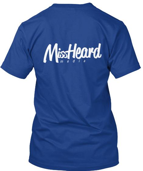Miss Heard Media True Royal áo T-Shirt Back