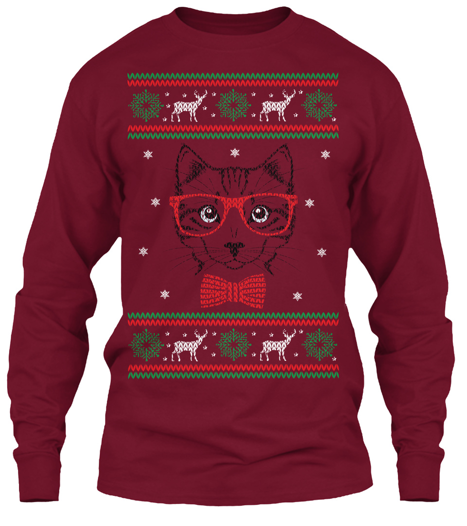 Cat Ugly Christmas Sweater Ugly Sweater Products From Ugly Cat Christmas Sweater Teespring