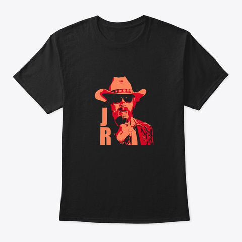 Awesome Hank Jr Country Music Black T-Shirt Front