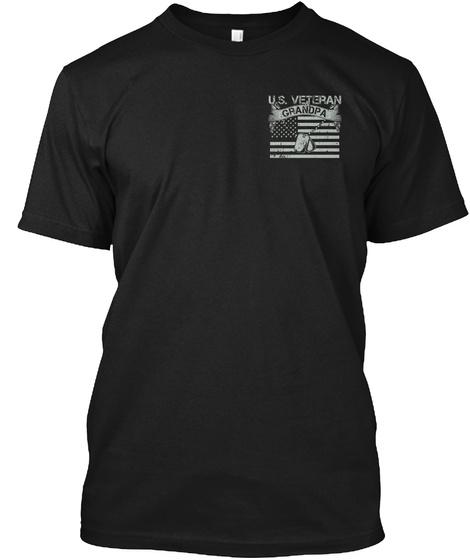 Never Underestimate Grandpa Black T-Shirt Front
