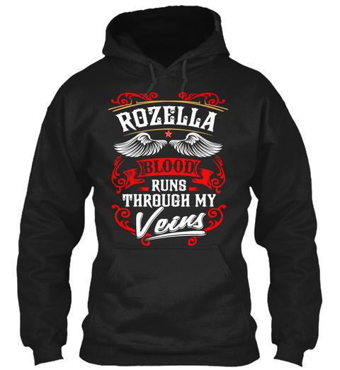 Rozella Blood Through My Veins Black T-Shirt Front
