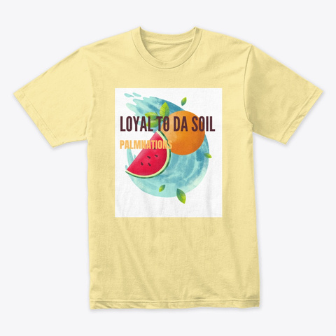 Fruits N Palm  Banana Cream T-Shirt Front