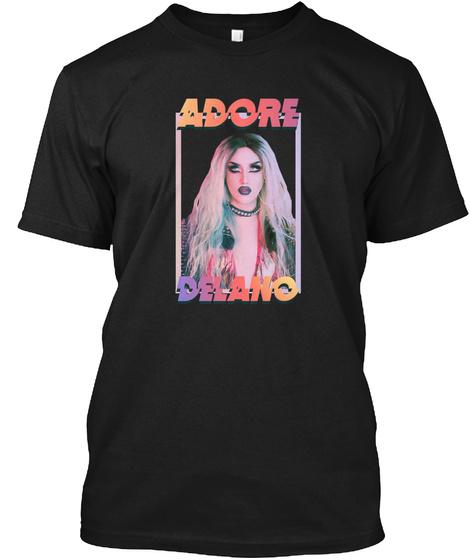 Adore Delano Black T-Shirt Front
