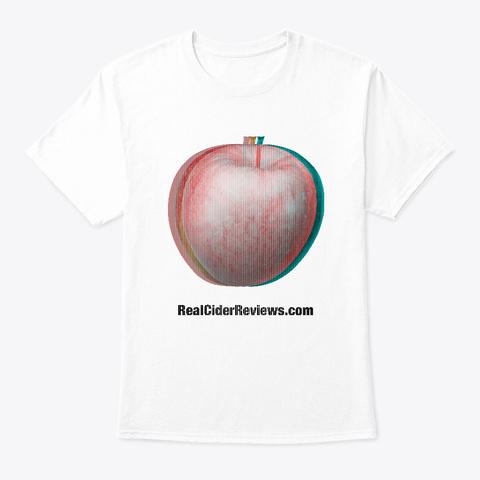 Apple Glitch White T-Shirt Front