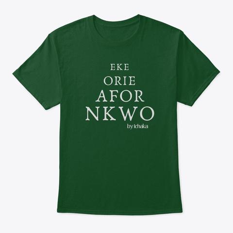 Igbo Market Days Deep Forest T-Shirt Front