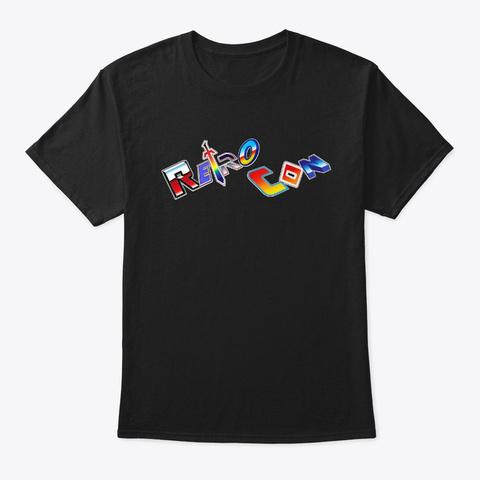 Retro Con Logo Angled Tee Black T-Shirt Front
