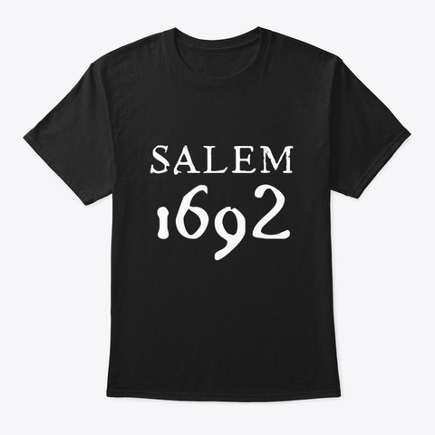 Salem 1692 Witch Halloween Wicca Occult Black T-Shirt Front