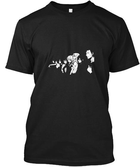 Stein's Gate Tee Shirt Black T-Shirt Front
