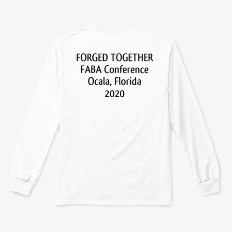 Faba Conference 2020 Unisex Long Sleeve White T-Shirt Back