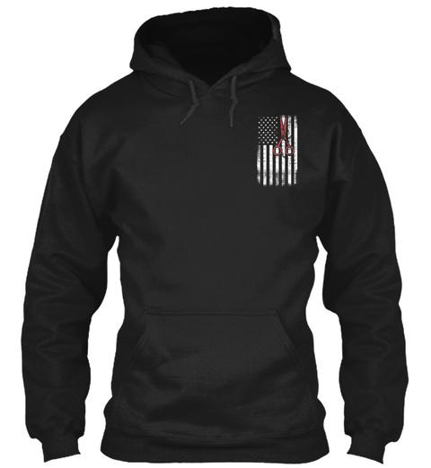 Hairstylist Flag!!! Black Sweatshirt Front