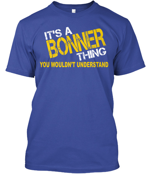 Bonner Thing [Limited Time Sale] Deep Royal T-Shirt Front
