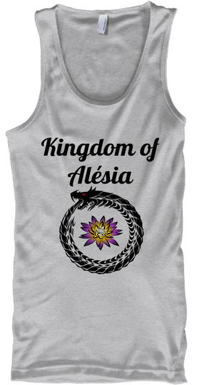 Kingdom Of Alesia Sport Grey Tank Top Front