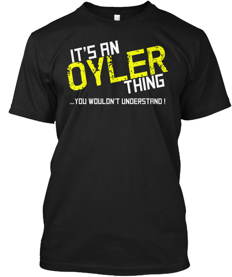 Oyler Thing (Limited Edition) Tee Black T-Shirt Front