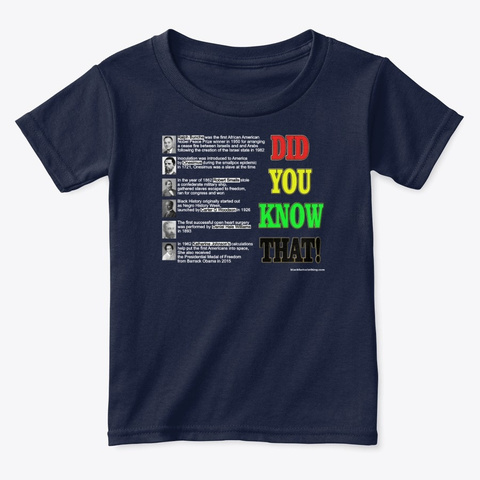 Did You Know That Dark Colos Navy  T-Shirt Front