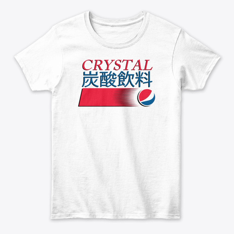 Crystal P E P S I (Japanese Version) White T-Shirt Front