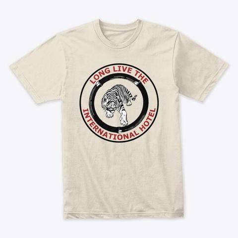 Vintage I Hotel Tiger Logo T Shirt Cream T-Shirt Front