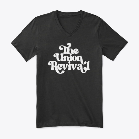 Retro Big Font Union Tee Black T-Shirt Front