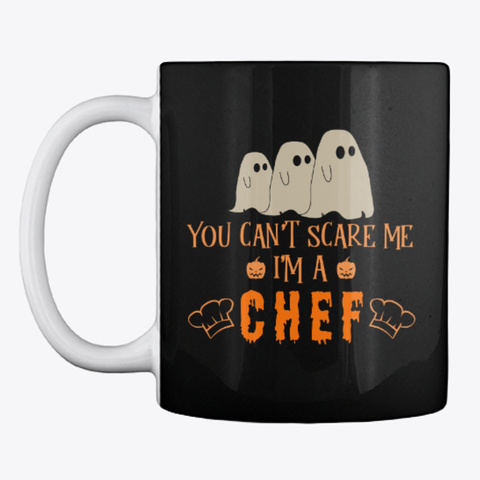 Chef Halloween Mug Black Mug Front