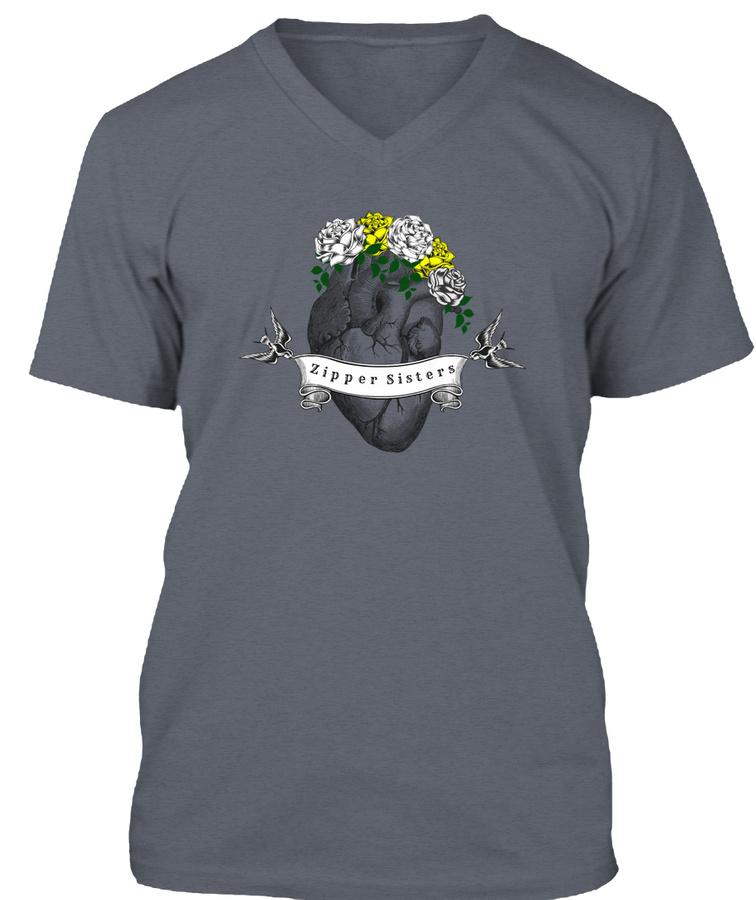 Zipper Sis Tee White Roses Unisex Tshirt