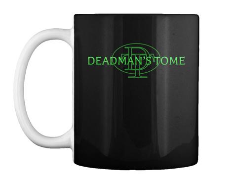 Deadman's Tome Mug Green Logo Black Maglietta Front