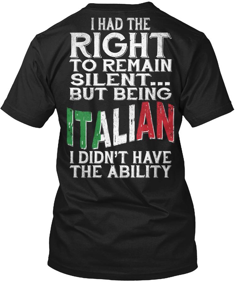 Italian  - Ability Unisex Tshirt