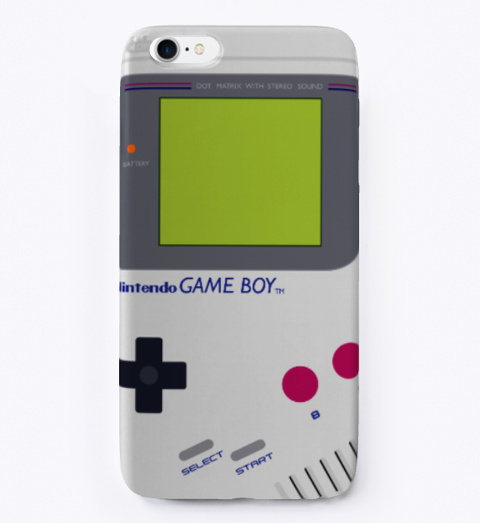 Game Boy  Old Video Gamer Phone Case Black T-Shirt Front